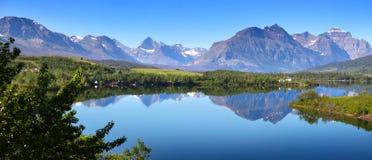 Lake Sherburne panorama Stock Photos