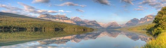 Lake Sherburne Reflection Panorama Stock Photos