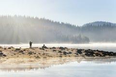Lake Shiroka poliana royalty free stock photography