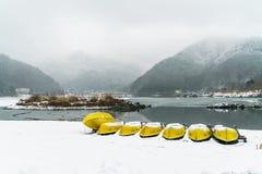 Lake Shoji Japan. view of beautiful white winter. Lake Shoji Japan. view of beautiful white winter Royalty Free Stock Photography