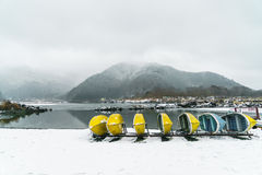 .Lake Shoji Japan. view of beautiful white winter. Lake Shoji Japan. view of beautiful white winter Royalty Free Stock Photo