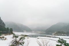 .Lake Shoji Japan. view of beautiful white winter. Lake Shoji Japan. view of beautiful white winter Stock Photo