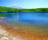 Mount Fuji from Lake Shoji. Lake Shoji with Mount Fuji in the background Stock Photography