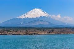 Lake Shoji with Mt. Fuji. In sunny day Stock Photo