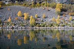 Lake shore in autumn Stock Photo