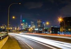 Lake Shore Boulevard East in Toronto Royalty Free Stock Image