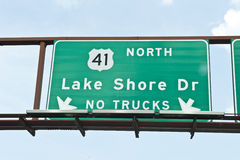 Lake Shore Dr Street Sign Stock Photos
