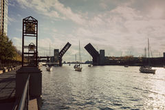 Lake Shore Drive Bridge is up Royalty Free Stock Photos