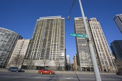 Lake Shore Drive in Chicago Royalty Free Stock Image