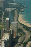 Lake shore drive overseen Stock Photography
