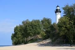 Lake shore lighthouse Royalty Free Stock Photos