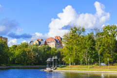 Lake. Shore of the lake near the Park Youth in Kaliningrad Royalty Free Stock Images