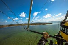 Lake Sibaya in ultralight aircraft Royalty Free Stock Photos