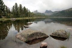Lake in the Siberian taiga Royalty Free Stock Photography