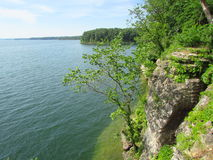 Lake side cliff in Missouri Stock Image