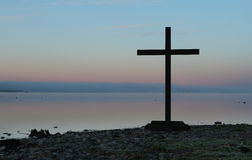 Lake Side Cross Royalty Free Stock Images