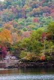 Lake side fall colors Stock Photo