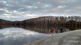 Lake side in KY. Lake in spring Royalty Free Stock Photography
