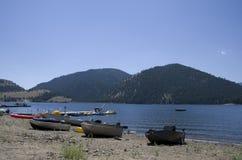 Lake side resort Royalty Free Stock Photography