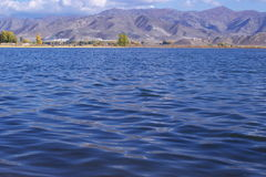 Lake by the sidehill Royalty Free Stock Image