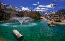 The lake, Spring Mountains. Royalty Free Stock Images
