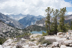 Lake in the Sierra Nevada Mountains Royalty Free Stock Photo