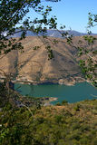 Lake in Sierra Nevada, Spain. Blue lake Sierra Nevada Mountains, near Granada Stock Images