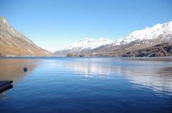 Lake Sils - Alpine lake Stock Images
