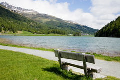 At Lake Silvaplana Royalty Free Stock Image