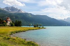 Lake Silvaplana in Switzerland Royalty Free Stock Image