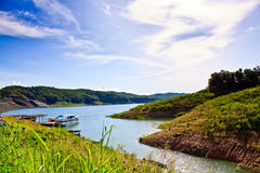 Lake in Sirikit dam,Thailand Stock Photography