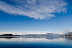 Lake Sirio - Ivrea - Piedmont. Panoramic view of Lake Sirio - Ivrea - Piedmont - Italy Royalty Free Stock Images