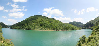 Lake Skadar, Albania Landscape. A panorama of the Lake Skadar (also called Scutari or Shkodër) in Albania. Taken in August 2009 Stock Image
