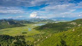 lake skadar montenegro Arkivbild