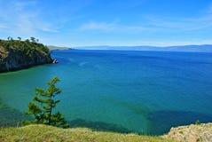Lake and sky. Wonderful summer day, lake Baikal Stock Photography
