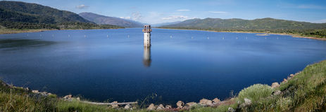 Lake Sky Hills Panorama in Spain Royalty Free Stock Photo