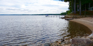 Lake sky horizon landscape dark dreary ominous Royalty Free Stock Photo