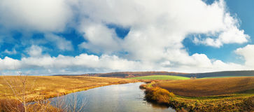 Lake and sky panorama Royalty Free Stock Image