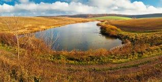 Lake and sky panorama Stock Photos