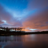 Lake and sky after sunset Royalty Free Stock Image