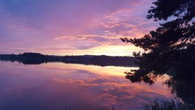 Lake and sky. Sunset Royalty Free Stock Images
