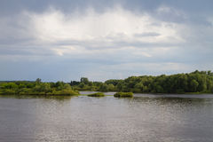 Lake, sky and trees Royalty Free Stock Photography