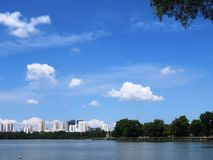 Lake, Sky, Water, Blue Sky, Nature Stock Photos
