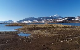 Lake in Slovakia. A lake with mountains beyond in the Liptov region of Slovakia, Europe Stock Photography