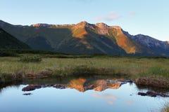Lake in Slovakia Tatras moutnain.  Royalty Free Stock Photo