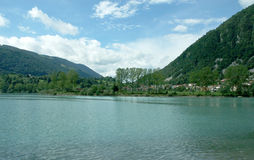 A lake in Slovenia stock photography