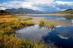 Lake Small Yazevoe, Altai, Kazakhstan Stock Photos