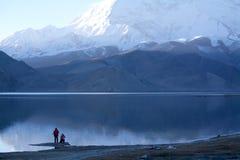 Lake and snow mountain Stock Image