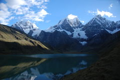 Lake and snow peaks Royalty Free Stock Photography