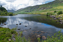 Lake in Snowdonia with views Stock Images